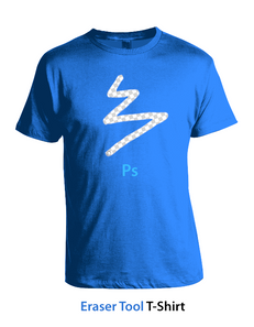 Photoshop Eraser Tool T-Shirt - Concept