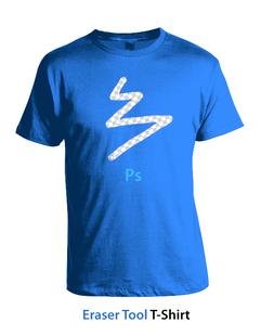 Photoshop Eraser Tool T-Shirt - Concept