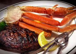 Sirloin and Crab Legs