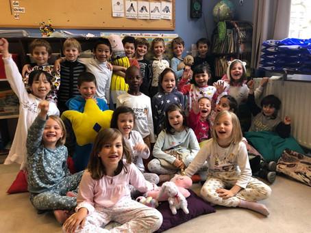 Les élèves en pyjama pour soutenir les enfants malades