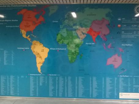 """La carte du """"Réseau Mondial des Etablissements Jésuites"""""""