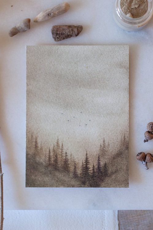 Sacred Land, 5x7 inches