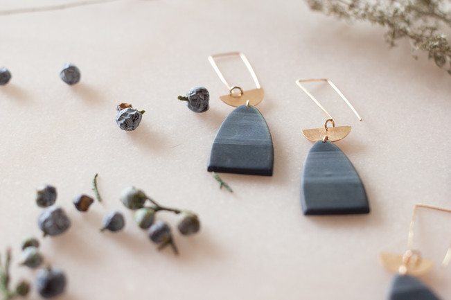 Handmade polymer clay and metal findings