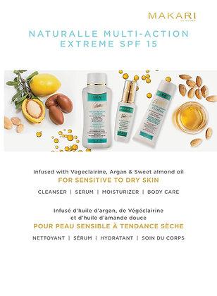 Naturalle Multi-action range cream, milk, soap and Serum