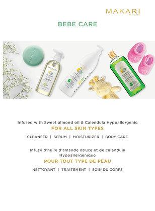 Gamme enfant/bébé lait, savon, gel moussant, soins douceur, lotion...