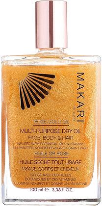 Makari 24k Rose Gold Huile scintillante à usages multiples 100 Ml