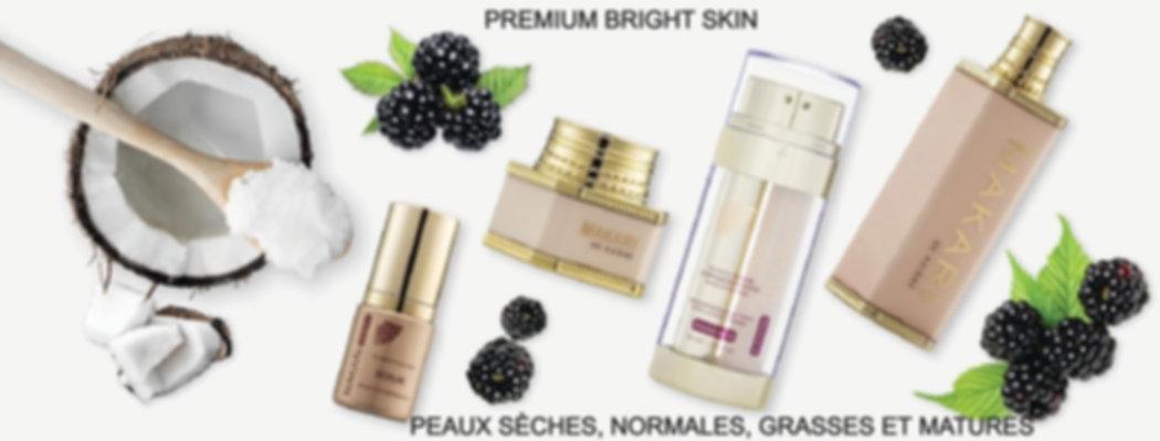 Gamme Makari de suisse Premium Bright Skin unifiante