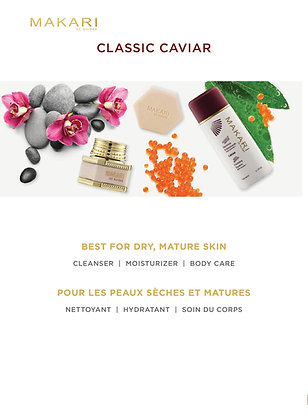 Makari - gamme caviar crème, savon et glycérine