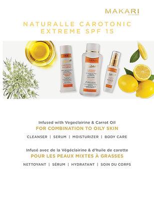 Gamme Carotonic Naturalle crème , lait, savon, sérum et glycérine