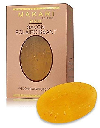Soap 24K Gold Lightening makari - With omega 3 & probiotic 200 GR.