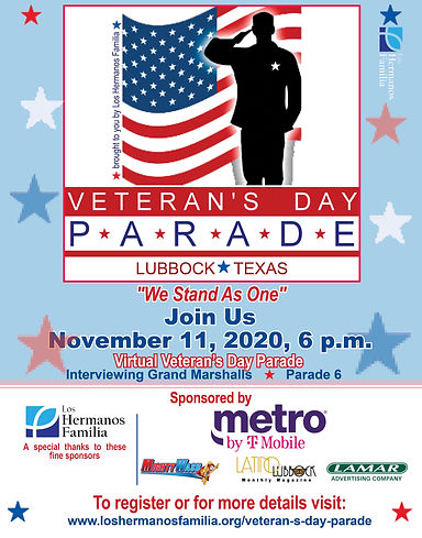 Veterans Day Parade Poster 2020 11 x 17