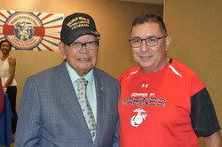 WW II Vet with Bobby Lugo Jr.