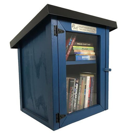 Two_Story_Shed_Blue_Little_Free_Library_