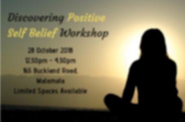 Discovering Positive Self Belief Worksho