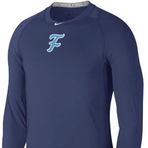Nike Men's Pro Baseball 3/4 Top Binary Blue S
