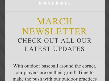 BROOKLYN FALCONS MARCH NEWSLETTER