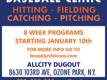TIME TO GET THAT WORK IN WITH SOME OFF-SEASON CLINICS...
