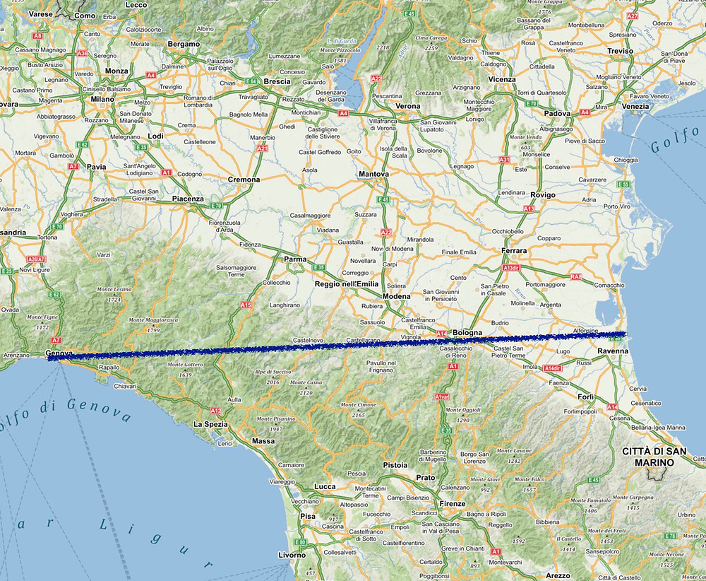Naše dělení severu Itálie na dvě části