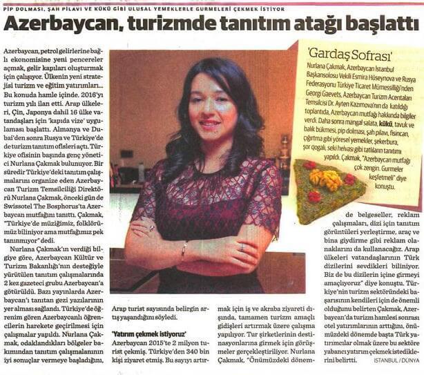 Dünya Gazetesi - 30.08.2016