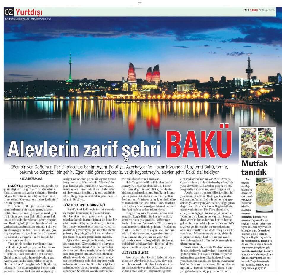 Sabah Gazetesi - 22.05.2015 - 02