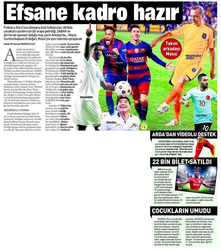 Sabah Gazetesi 2016.07.15