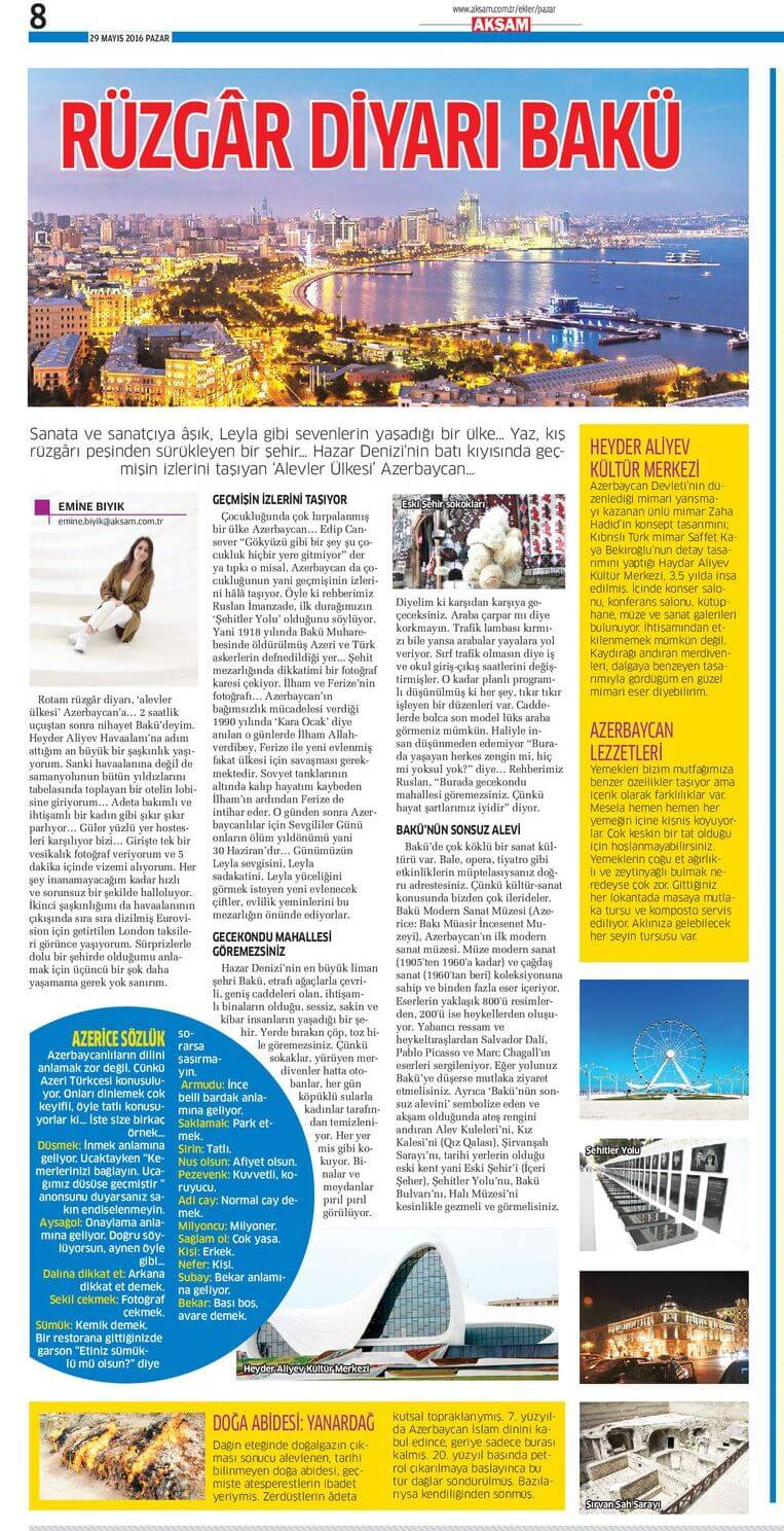 Akşam Gazetesi - 29.05.2016