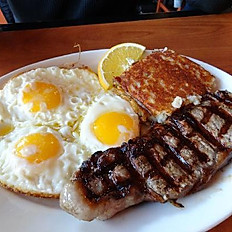 Stake and eggs
