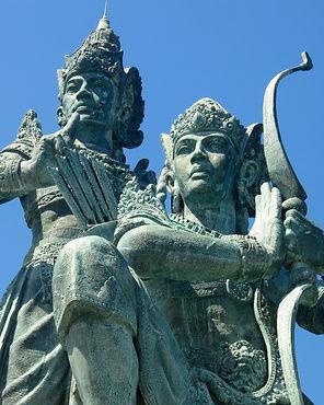 Arjuna and Krishna famous statue close-up view photo. Nusa Dua, Bali island, Indonesia.jpg