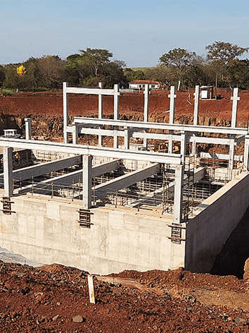 PREFABRICATED CONCRETE STRUCTURE ASSEMBLY FOR ELECTRICAL ROOM AND WATER PUMP WELL PUMP FOR CELLULOSE PLANT