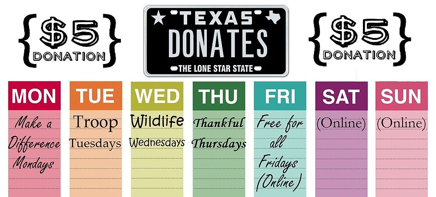 Texas Donates Texas Donation Texas Insurance Donations Texas Insurance Donates Make a Difference Monday Troop Tuesday Wildlife Wednesday Thankful Thursday Free For All Friday Community Service Insurance Agency in Texas Non-Profit Donation for Texas Insurance Agency Promotions for Texas Insurance Agency