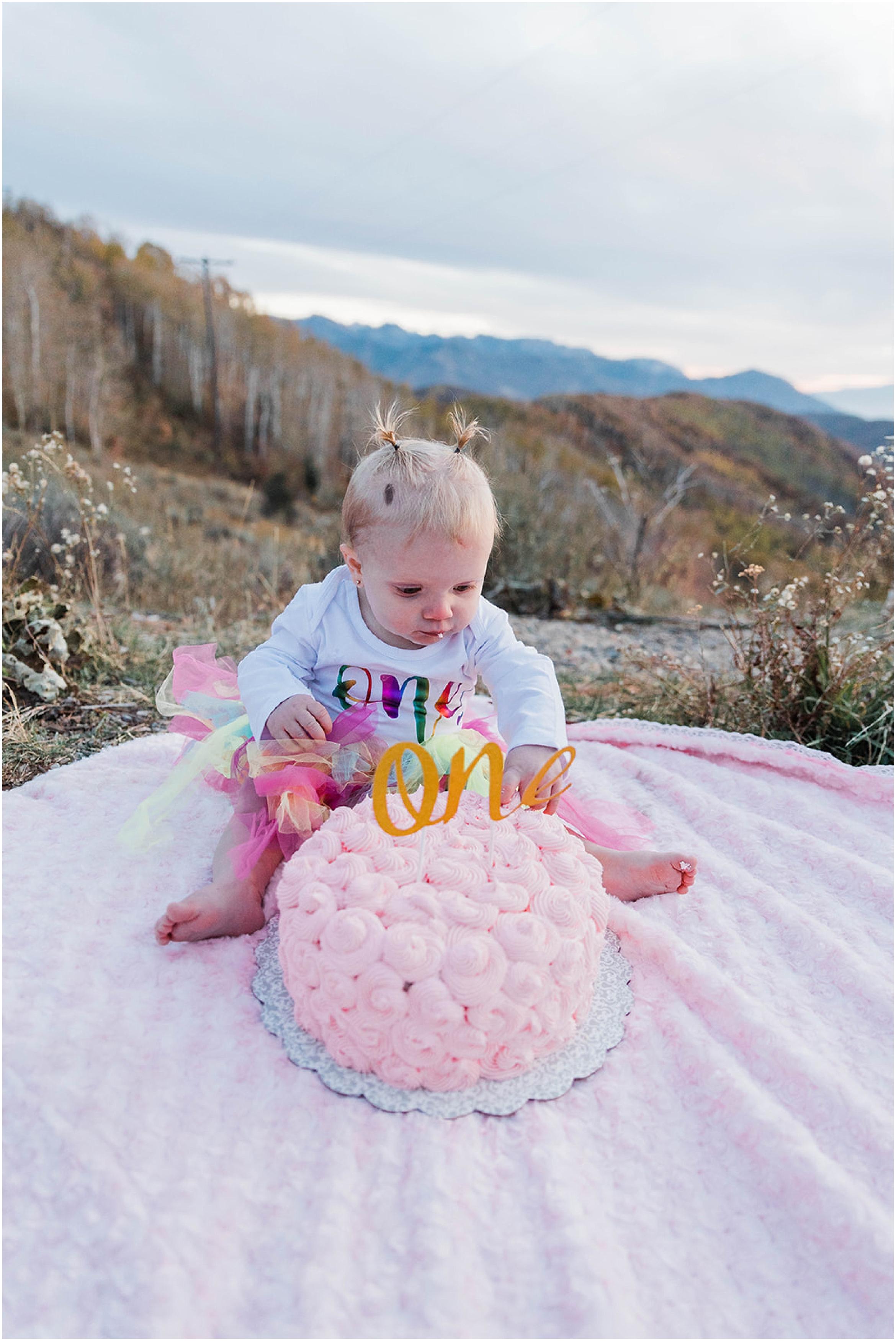 Kenzie Jo Photography, Utah family photographer, one year old cake smash