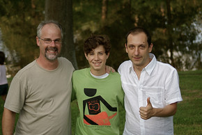 With former student Alec Feldges (now BA in guitar from Mizzou) and Italian fingerstyle virtuoso, Daniele Bazzani