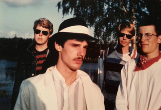 Promo shot for first recording release, FINLAND, 1985