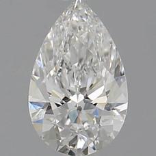 CORTE PERA, Diamante lab, 0.53ct, E, VS2