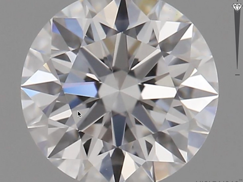 CORTE REDONDO BRILLANTE, Diamante lab 0.5ct, F, VS1, corte ideal
