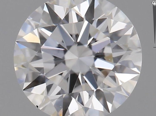 CORTE REDONDO BRILLANTE, Diamante lab 0.64ct, E, VS1, corte ideal