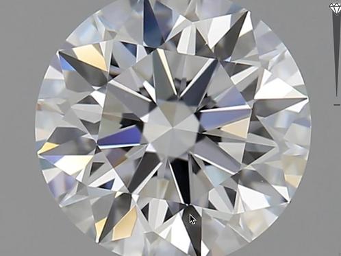 CORTE REDONDO BRILLANTE, Diamante lab 1.36ct, F, VVS2, corte ideal