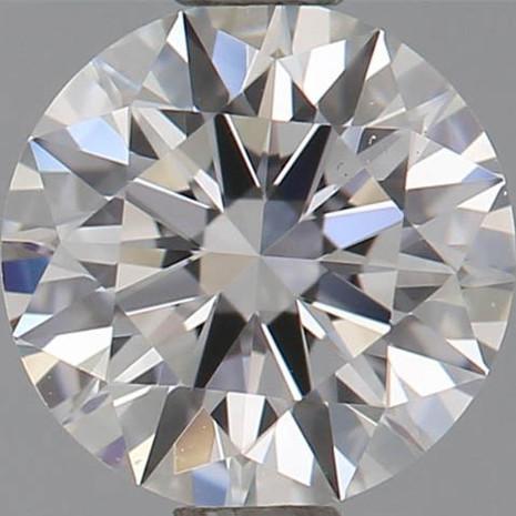 CORTE REDONDO BRILLANTE, Diamante lab, 0.6ct, E, VS2, corte ideal