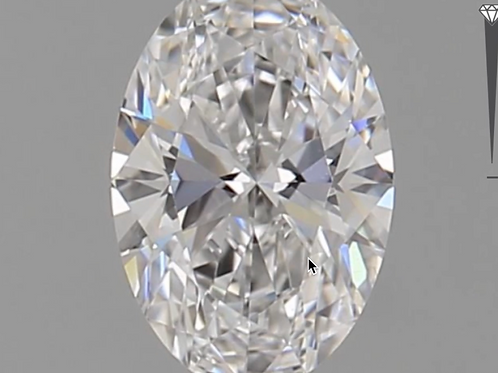 CORTE OVALADO, Diamante lab 0.54ct, D, VS1