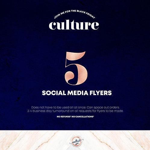 5 SOCIALMEDIA FLYERS