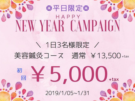 【平日限定】美容鍼灸60%OFF♡