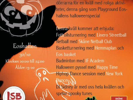 "Halloweenkväll med ""Playground Eoshallen"" is here!"