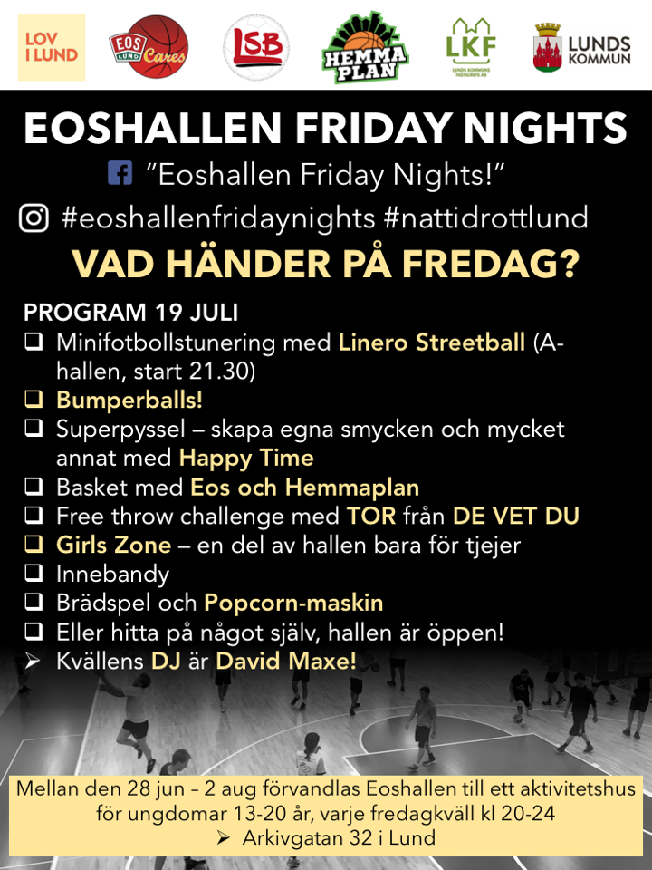 The program for the 19th of July