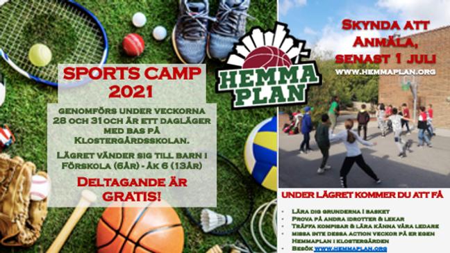 Anmälan till Klostergården Sports Camp 2021