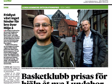 Eos Cares in Sydsvenskan!