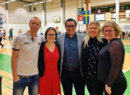 Växjö Ravens Basket visit: The beginning of a -socially responsible- collaboration
