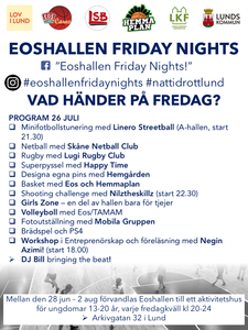"The program for the 5th ""Eoshallen Friday Nights"" is full of surprises!"