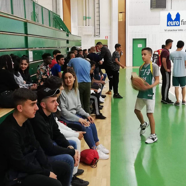 About 200 youngsters came to the gym