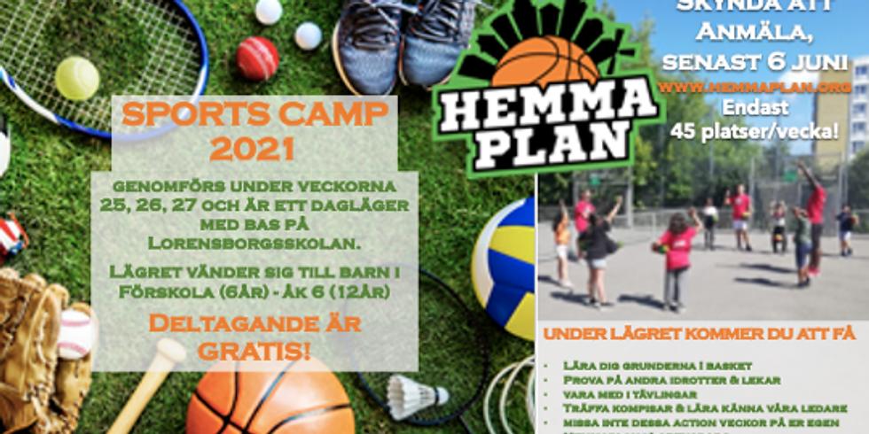 Anmälan till Lorensborg Sports Camp 2021