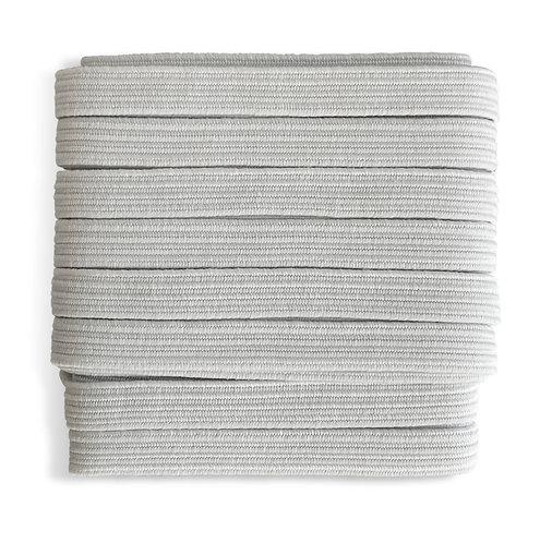 Hvit elastisk myk